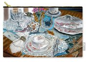Oil Painting Still Life China Tea Set Carry-all Pouch