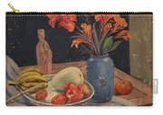 Oil Painting Still Life Vase Fruits Carry-all Pouch