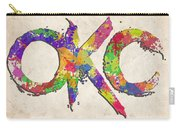 Okc Typography Watercolor Carry-all Pouch