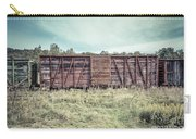 Old Abandoned Box Cars Central Vermont Carry-all Pouch