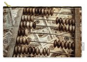 Old Accounting Wooden Abacus Carry-all Pouch