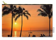 Old Airport Beach Sunset Carry-all Pouch