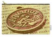 Old Aquarius Astrology Carry-all Pouch