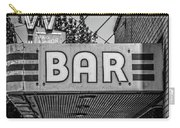 Old Bar Sign Livingston Montana Black And White Carry-all Pouch