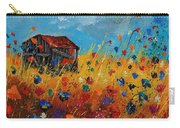 Old Barn And Wild Flowers Carry-all Pouch