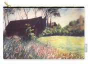 Old Barn And Wildflowers Carry-all Pouch
