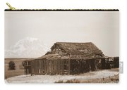 Old Barn With Mount Hood In Sepia Carry-all Pouch
