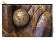 Old Baseball Mitt And Ball Carry-all Pouch