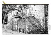 Old Black And White House  Carry-all Pouch