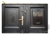 Old Black Closed Door Carry-all Pouch
