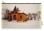 Old Brick Schoolhouse In Winter Carry-all Pouch