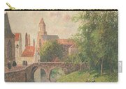 Old Bridge In Bruges  Carry-all Pouch by Camille Pissarro