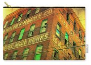 Old Empty Building In Retro Colors Carry-all Pouch