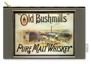 Old Bushmills Irish Whiskey. Old Advertising Poster Carry-all Pouch