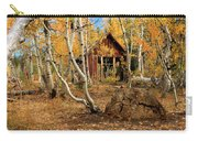 Old Cabin In The Aspens Carry-all Pouch