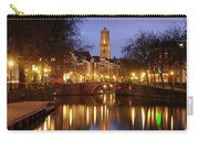 Old Canal And Dom Tower In Utrecht In The Evening 16 Carry-all Pouch