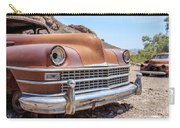 Old Cars In The Desert, Eldorado Canyon, Nevada Carry-all Pouch by Edward Fielding