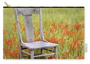 Old Chair In Wildflowers Carry-all Pouch by Jill Battaglia