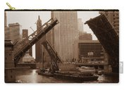 Old Chicago River Bridges Carry-all Pouch