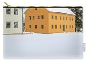 Old Colonial Wood Framed Houses In Winter Carry-all Pouch