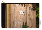 Old Door And Wine Carry-all Pouch