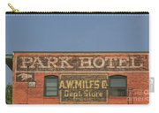 Old Faded Advertisement On An Old Brick Building Carry-all Pouch