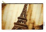 Old Fashion Eiffel Tower Souvenir Carry-all Pouch
