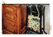 Old Fashioned Dictaphone Carry-all Pouch by Susan Savad