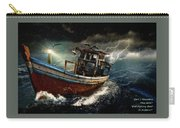 Old Fishing Boat In A Storm  L A Carry-all Pouch