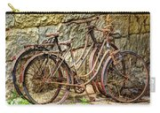 Old French Bicycles Carry-all Pouch by Debra and Dave Vanderlaan