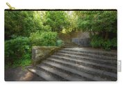 Old Garden With Stone Walls And Stair Steps Carry-all Pouch