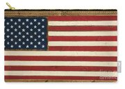 Old Glory Displayed On Wood Carry-all Pouch