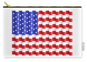 Pixilated Old Glory Carry-all Pouch