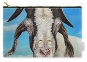 Old Goat - Painting By Cindy Chinn Carry-all Pouch