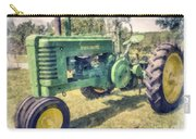 Old Green Vintage Tractor Watercolor Carry-all Pouch