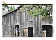Old Grey Barn With Vistors Carry-all Pouch