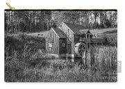 Old Grist Mill In Vermont Black And White Carry-all Pouch