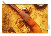 Old Gun On Old Map Carry-all Pouch by Garry Gay