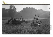 Old Hay Baler In Misty Field Carry-all Pouch