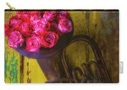 Old Horn And Roses On Door Carry-all Pouch