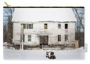 Old House In The Snow Springfield New Hampshire Carry-all Pouch