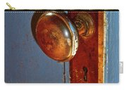 Old Knob On Blue Door Carry-all Pouch