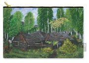 Old Log Cabin And   Memories Carry-all Pouch