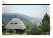 Old Log Cabin On Mountain Landscape Carry-all Pouch