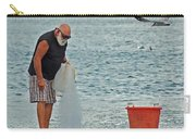 Old Man And The Net Carry-all Pouch