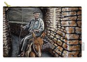 Old Man On A Donkey Carry-all Pouch