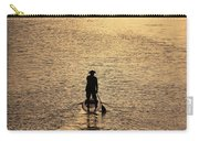 Old Man Paddling Into The Sunset Carry-all Pouch