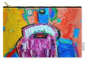 Old Man With Red Bowler Hat Carry-all Pouch
