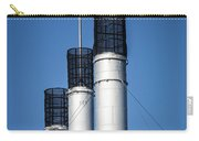 Old Mill Smoke Stacks With Flag Carry-all Pouch