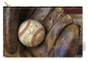 Old Mitt And Baseball Carry-all Pouch by Garry Gay